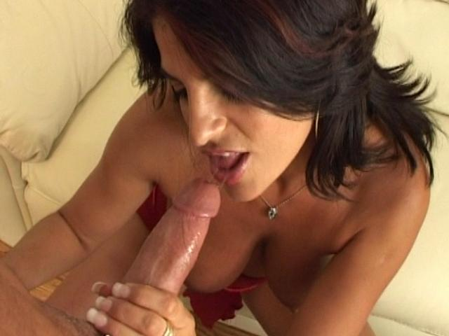 Super-naughty Brown-haired Wifey Deep-throating A Phat Knob And Getting Ravaged From Butt