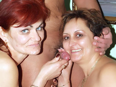 Aged Femmes Having A Stream