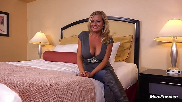 Steamy Ample Bosoms Mom Does Very First Pornography